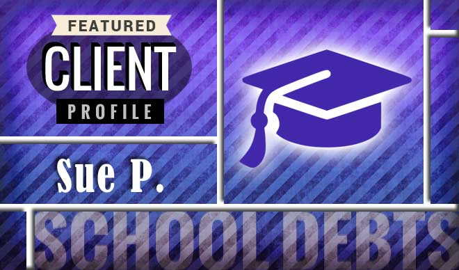 Sue P. Client Profile - Paying for school with a credit card