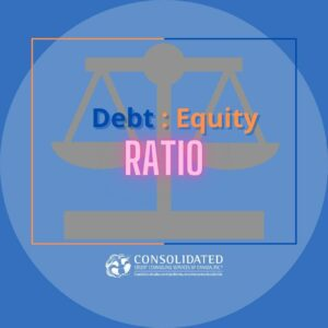 A scale with debt and equity