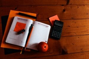 Calculator and note pad