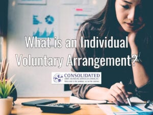 Woman reviewing involuntary voluntary arrangement terms
