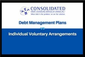 Difference between debt management plan and individual voluntary arrangement